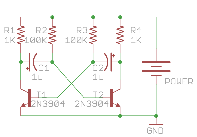 learning electronics \u2014 1 astable multivibrator rayshobby net