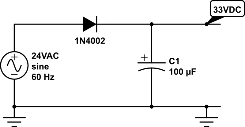 24vac to 5vdc conversion