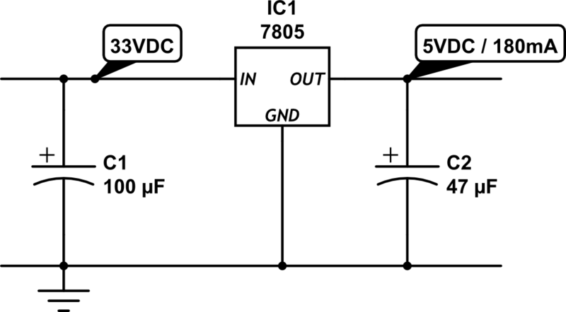 5V Regulated Power Supply Circuit Diagram | 24vac To 5vdc Conversion Rayshobby Net