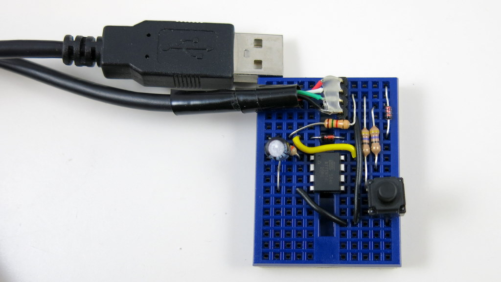 HID-class USB Serial Communication for AVRs using V-USB