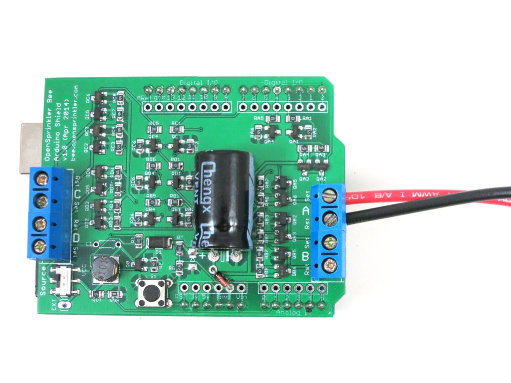 Announcing Opensprinkler Bee Osbee Arduino Shield V10 Solenoid Driver Circuit At The Wastegate Connector And How To Open Or Close Latching Valve Electrically Valves Have Quite Low Coil Resistance A Few Ohms