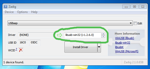 Dead-Simple Driver Installation for USBasp and USBtiny on
